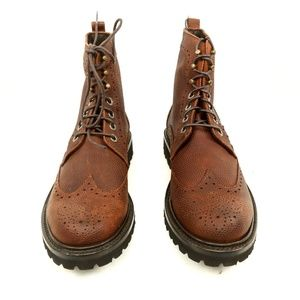 7f324334701 Wolverine 1883 Percy Pebble Grain Wingtip Boots NWT